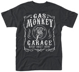 Gas Monkey- Blood, Sweat & Beers Label T-Shirt