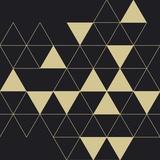 Losanges noirs dorés Affiches par  Braun Studio