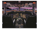 Boeing 757 glass cockpit Julisteet