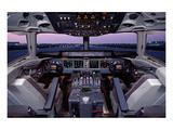 DC-10 McDonnell Douglas Cockpit Kunst von  Anonymous