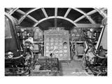 B-29 heavy bomber Flight Deck Poster
