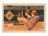 Ayuniamiento de Barcelona Poster by  de Riquer