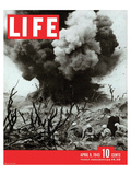 LIFE Marines Iwo Shima action Stampe