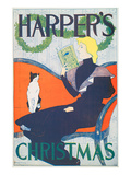 Harper's Christmas Print by Edward Penfield