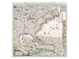 Map of British Empire 1733 Plakater av Henry Popple