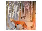 Foxy Wood Affiches par Claire Westwood