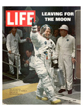 LIFE Armstrong Leaving for Moon Poster