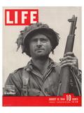 LIFE GI in Normandy 1944 Lámina por  Anonymous