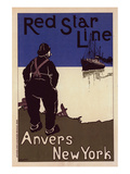 Red Star Line Anvers New York Print by Henrick Cassiers