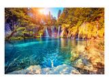 Plitvice Lakes Natl. Park Croatia Art by  Anonymous