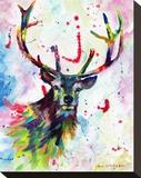 Color Stag Opspændt lærredstryk af Sarah Stribbling