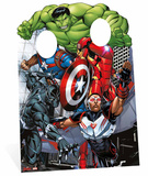 Avengers Assemble Child Stand In Pappfigurer