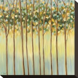 Awakening Tree Tops Stretched Canvas Print by Libby Smart