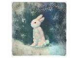 Snow Hare Poster par Claire Westwood
