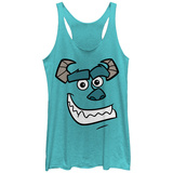Juniors Tank Top: Pixar: Monsters University- Smiling Sully Ermeløse toppen for damer