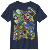 Youth: Super Mario- Brothers In Action Shirt