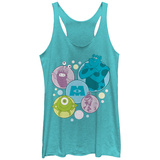 Juniors Tank Top: Pixar: Monsters Inc.- Monsters Spotlights レディースタンクトップ