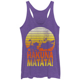 Juniors Tank Top: Disney: The Lion King- Sunny Hakuna Matata Regatas femininas