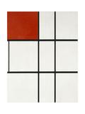 Composition B (No.II) with Red Reproduction procédé giclée par Piet Mondrian