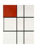 Composition B (No.II) with Red Giclee Print by Piet Mondrian