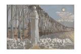 Pillar and Moon Giclee Print by Paul Nash