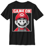 Youth: Super Mario- Game On Poster Tshirt