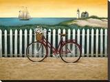 Bicicleta junto a la playa Reproducción de lámina sobre lienzo por Lowell Herrero