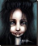 Little Dahlia Toile tendue sur châssis par Angelina Wrona