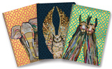 Majestic Animals Notebook Trio Lommebog