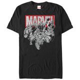 The Avengers- Black & White Charge T-Shirt