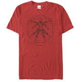 Spiderman- Vitruvian Spider Skjorter