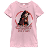 Young Girls: The Scarlet Witch- Heroine In Red T-Shirt