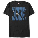 The Avengers- Avengers Silouette Panels T-Shirts