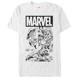 Captain America- Action In Black & White Skjortor