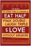 Tibetan Proverb: Eat Half & Love Láminas