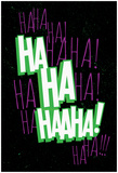 Maniacal Laugh (Green & Purple) Print