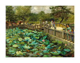 Lotus Pond, Shiba, Tokyo, c.1886 Premium Giclee Print by Theodore Wores