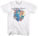 Mega Man- Megafriends Faded T-Shirts
