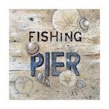 Muelle de pesca Lámina giclée por Arnie Fisk
