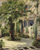 Interior of the Palm House at Potsdam, 1833 Giclée-tryk af Karl Blechen