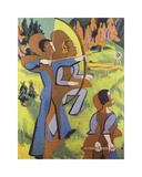 Archers, 1935-1937 Premium Giclee-trykk av Ernst Ludwig Kirchner