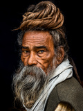 Portrait of a Sadhu... Reproduction photographique par Rakesh J.V