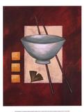 Oriental Dining II Poster von Rita Vindedzis