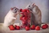 Jordbær Fotografisk tryk af Ellen Van Deelen