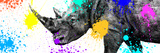 Safari Colors Pop Collection - Rhino Portrait V Giclee Print by Philippe Hugonnard