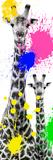 Safari Colors Pop Collection - Giraffes III Lámina giclée por Philippe Hugonnard