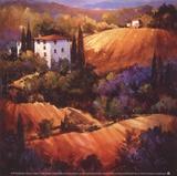 Lueur du soir en Toscane Affiches par Nancy O'toole