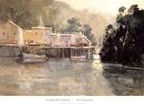 Morning Harbor, Mendocino Plakat af Ted Goerschner