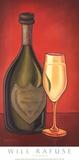 Champagner Poster von Will Rafuse