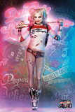 Suicide Squad- Harley Quinn Neon Glow Stampe
